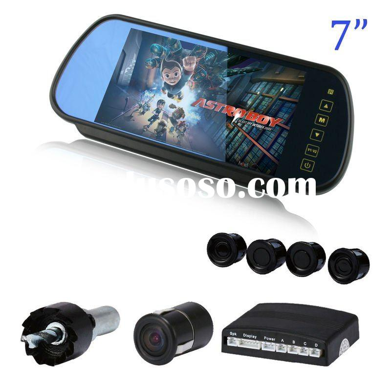 """7"""" auto rearview mirror car monitor camera with parking sensor"""