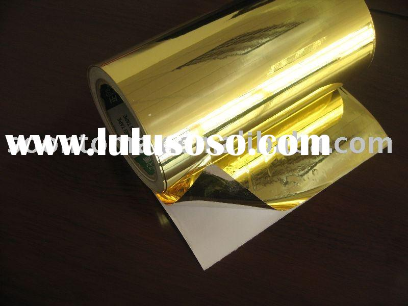 80g Matte silver aluminium foil adhesive paper rolls in packing and printing