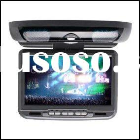 9 Inch Flip Down Roof Mount Car DVD player Support FM Transmitter Wireless Game Free Headphones