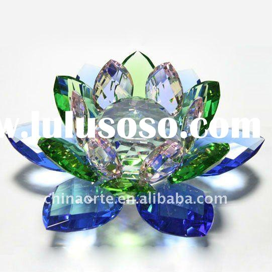 AB Color Crystal Lotus Flower For Home Decoration
