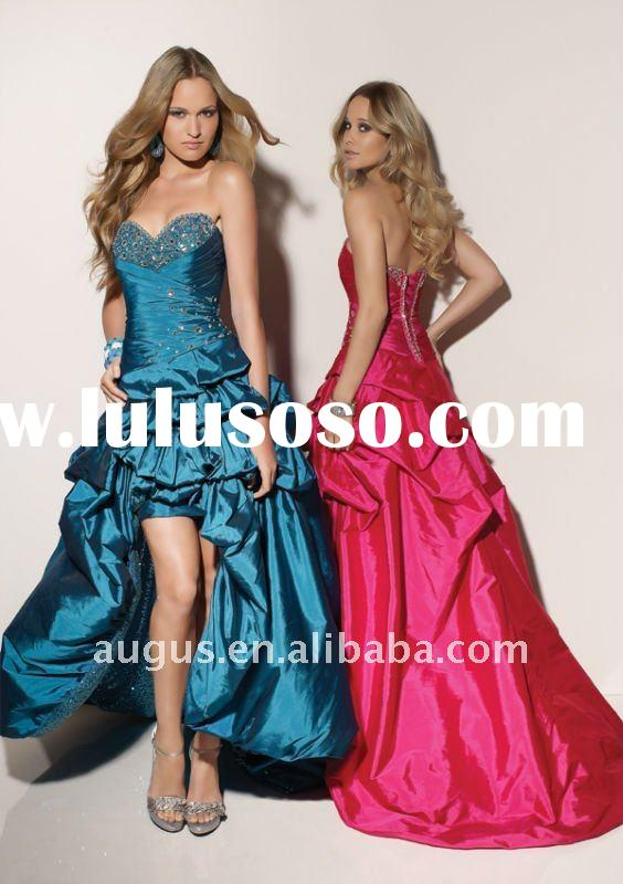 AP-074 2012 Elegant High Low Ball Gowns Prom Dresses