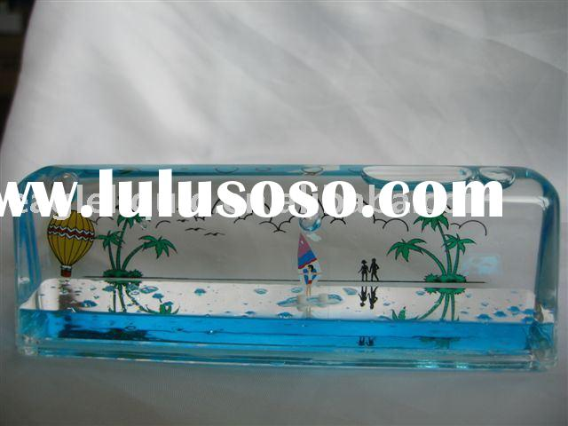Acrylic paper weight with liquid, EGL101