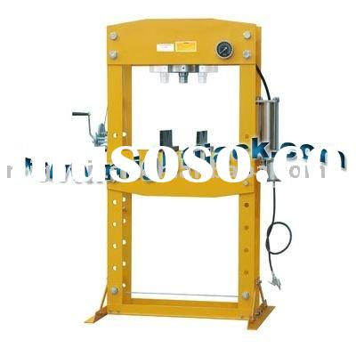 Air/Manual Hydraulic Shop Press with Removable Ram