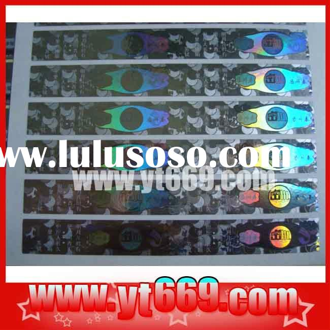 Anti-counterfeiting laser hologram security seal sticker