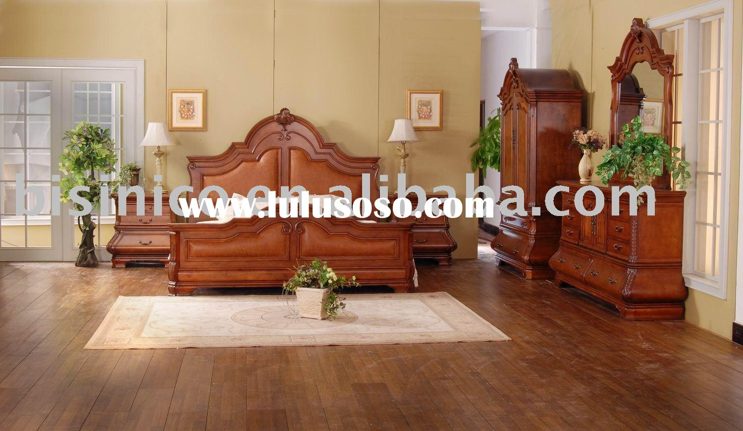 Antique bedroom furniture,bed room sets,side table,dresser,mirror,chest,TV armoire,American furnitur