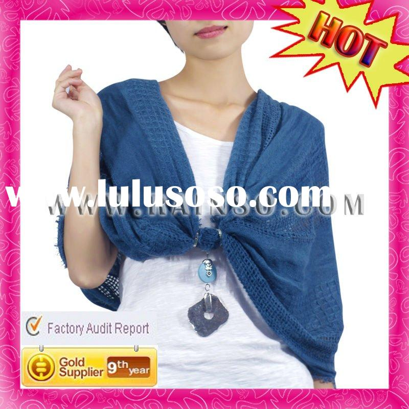 Autumn Style Resin Pendant Fashion Plain Scarf Pashmina