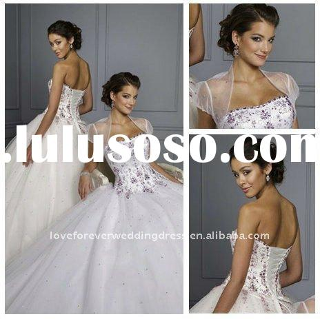 Ball Gown Cheap White Quinceanera Dresses 2011 Hot