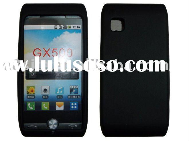 Black Silicon Skin Cell Phone Case For LG GX500