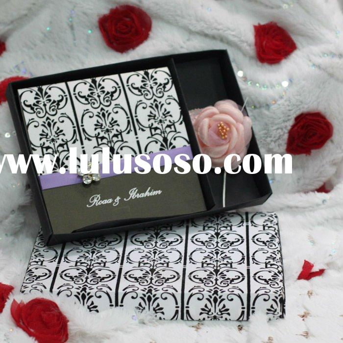 Black and White Classical Flocking Party Invitations With box --EA060