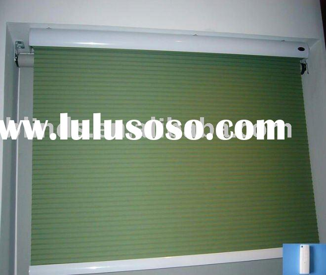 Remote control roller shutter slat for window for sale for Cost of motorized blinds