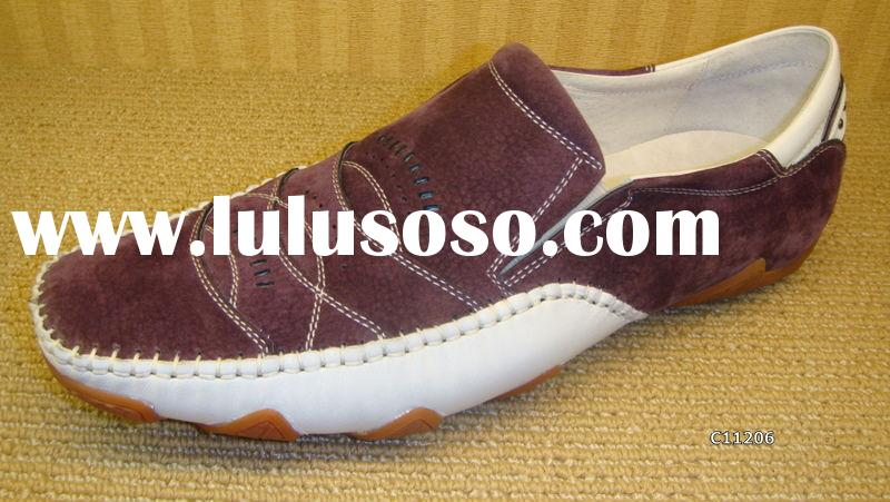 Brand New ABA fashion purple color Mens leather dress casual shoes Sport Shoes