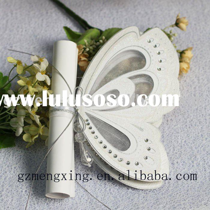 Butterfly Wedding Invitation With Crystal ------T192