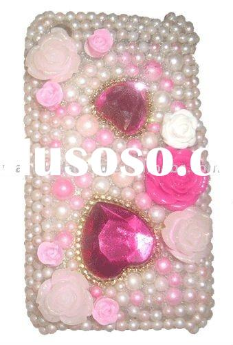 Cell Phone Case:Pearl Bling Diamond Rhinestone Crystal Case(FOR NOK N97 mini)