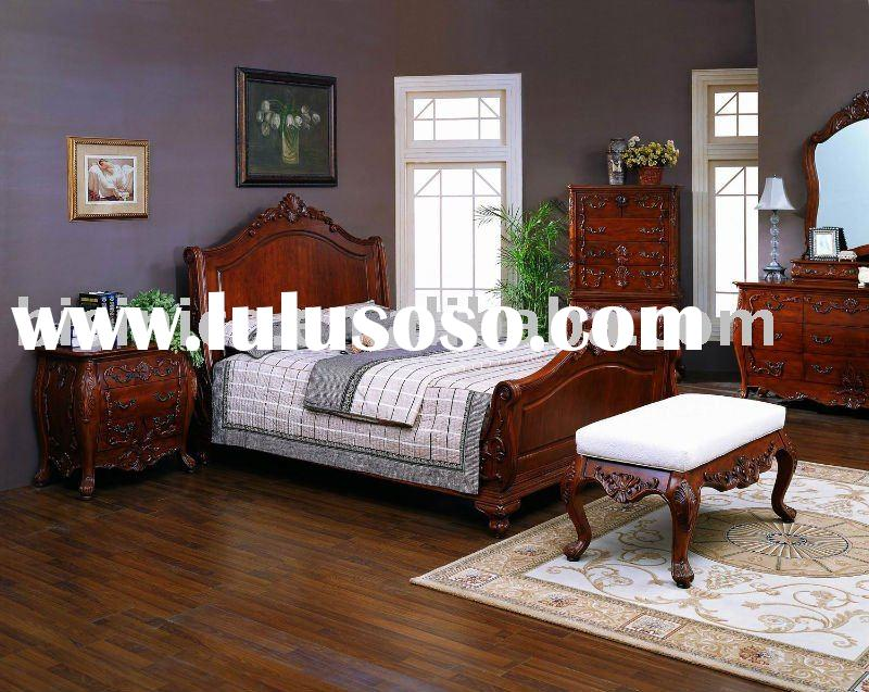 Classical bedroom furniture,Solid wood American bedroom sets,night stand,dresser,mirror,chest,TV arm