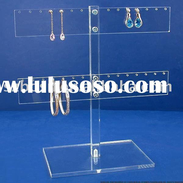 Clear Acrylic Jewelry Display,Plexiglass Earring Stand,Lucite Bracelet Holder