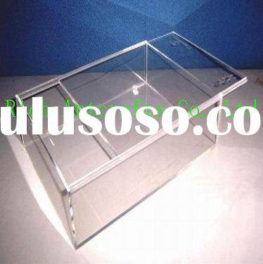 Clear acrylic box with slip lid