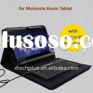 Crocodile Pattern Leather Case with Bluetooth Keyboard for Motorola XOOM tablet
