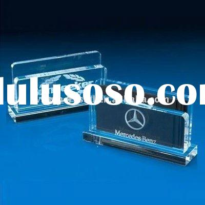 Crystal table name card holder /Office Stationery Sets
