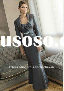 Custom-made 2011 hot sales modest floor length beaded mother of the bride dresses
