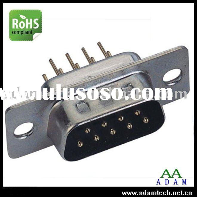 Dip Straight 9 Pins Male Plug D-SUB Connector