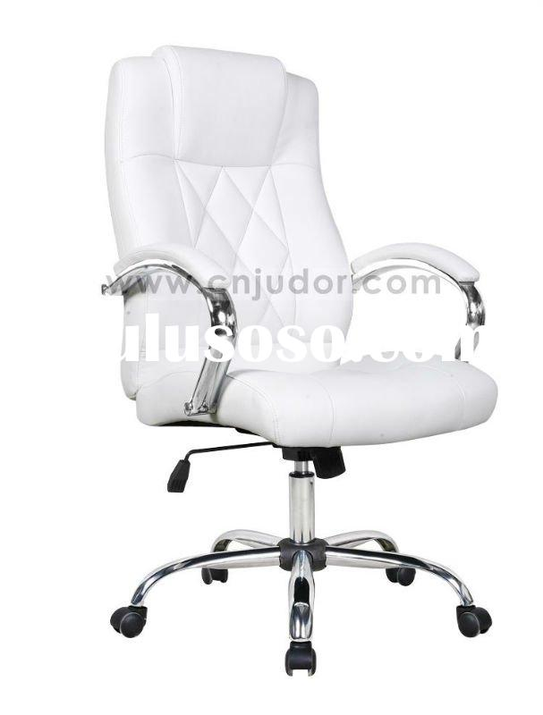 Elegant white PU Leather manager office chair K-8362