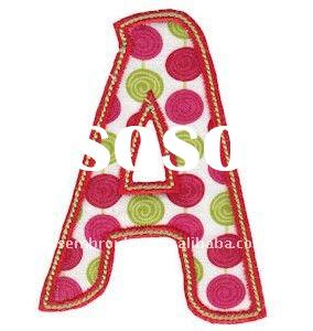 Letters embroidered chenille patches for sale price for Embroidery prices per letter