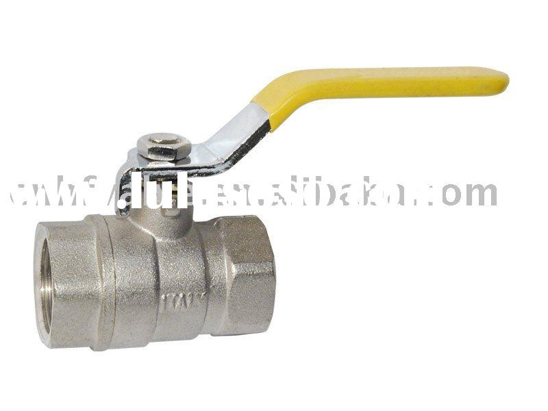 Forged Brass Ball Valve,steel handle with plastic cover