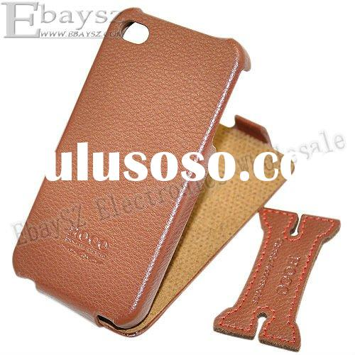 Free shipping Fashion HOCO Leather Case For iPhone 4 4G,IP-242