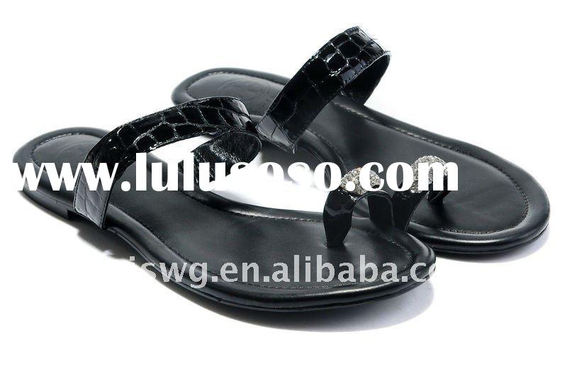 Genuine leather casual flip-flop/ sandals for women