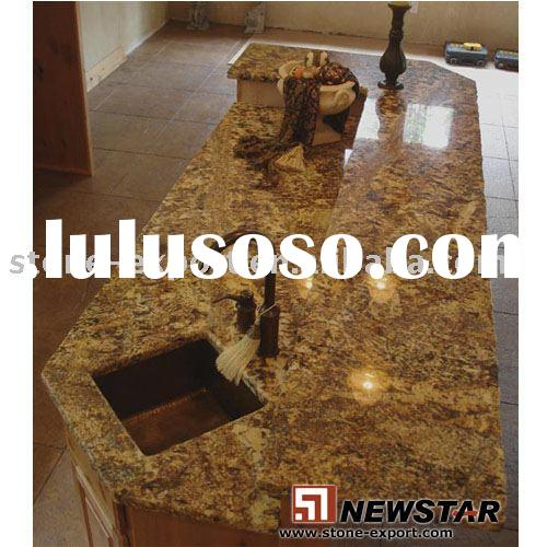 Granite Kitchen Countertop with Copper Sink