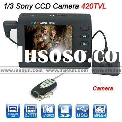 HD Portable Mini DVR with Motion-activated and LCD