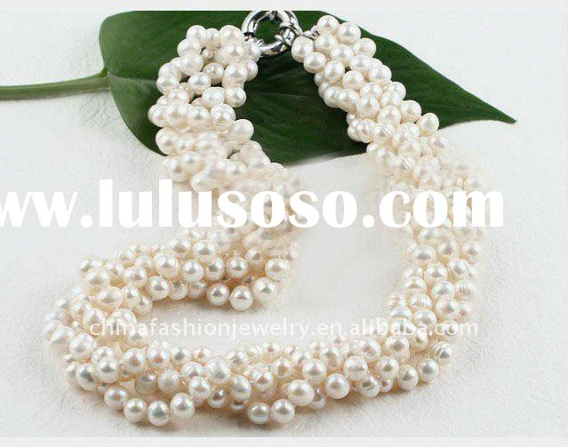 HSYN2981 Latest New Design Beaded Pearl Necklace