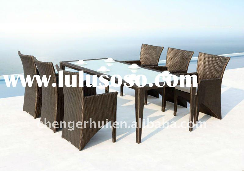 Hot modern outdoor rattan dining set with UV-proof (DH-9669)