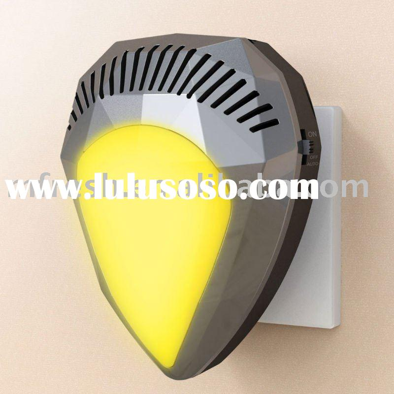 Ionic air purifier with light for bathroom