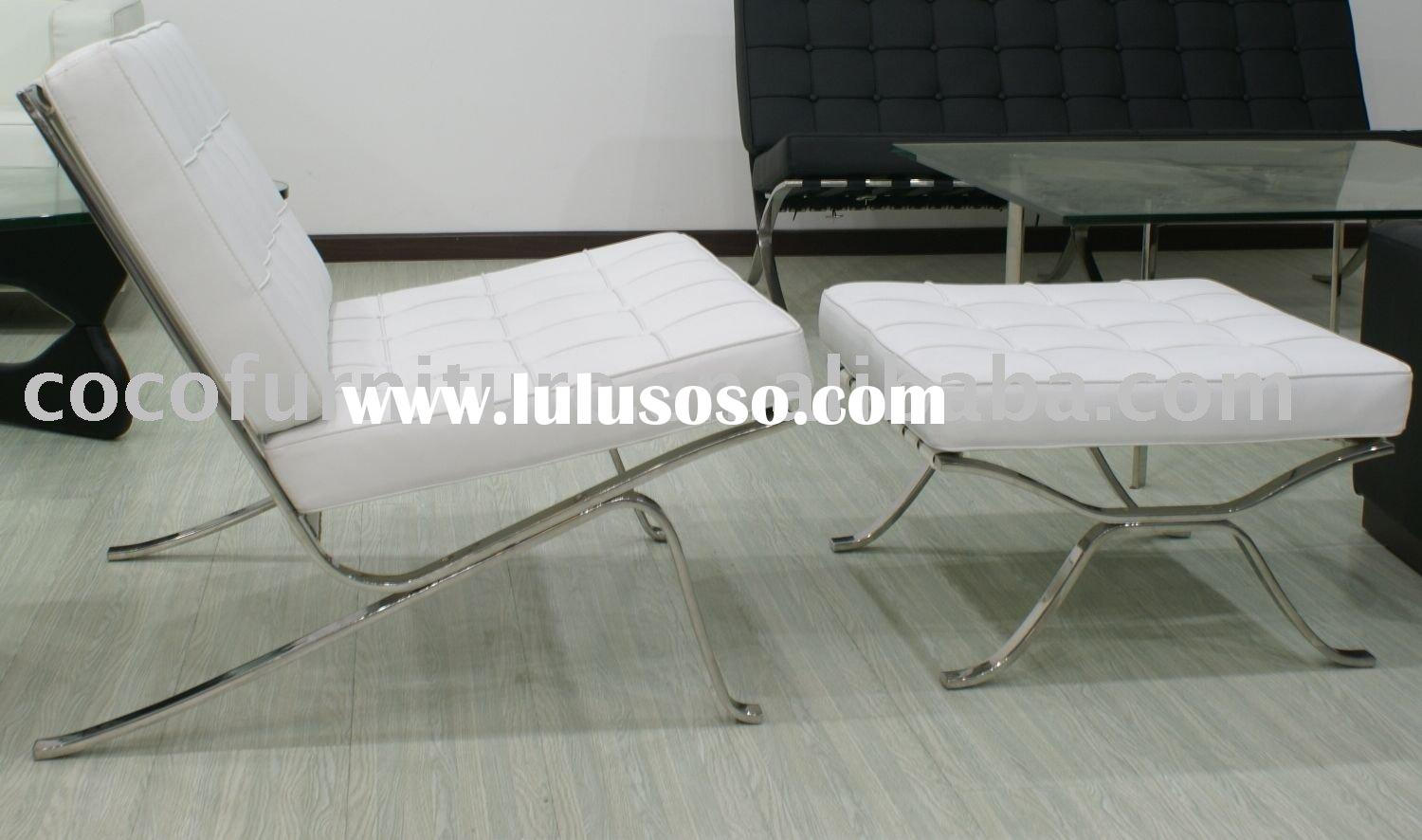 KD Barcelona chair Barcelona chair Barcelona day bed Charles Eames chair and Eames soft pad alum off