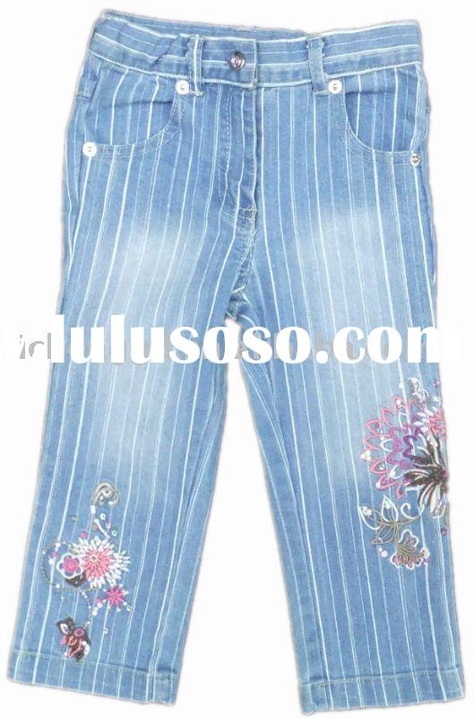Kids denim pants fashion jeans stock G1480#