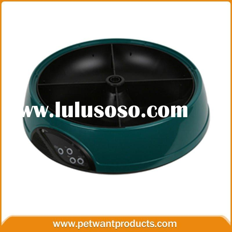 LCD timer 4meal automatic pet feeder&dog fresh food dish