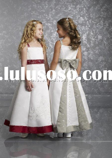 LY-5023 silk dress,fashion dress,flower girl dress