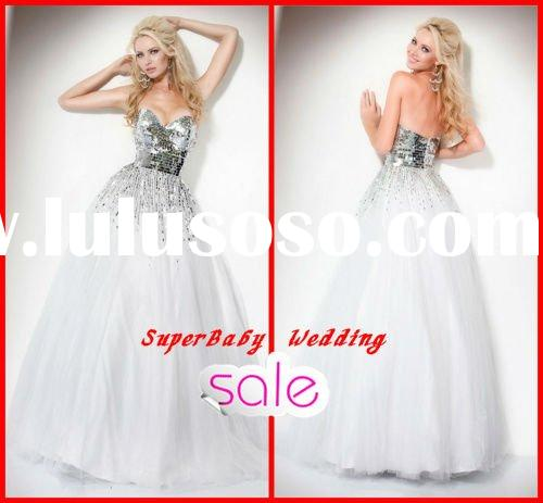 Latest E-2058 strapless ball gown long party fashion prom dress