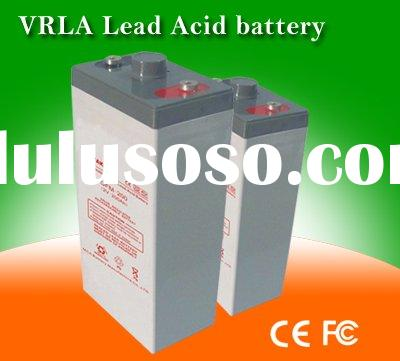 Lead acid VRLA battery 2V300AH for solar/wind energy, with AGM,Deep discharge and recharge, Low self