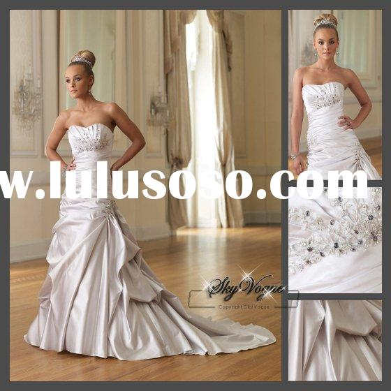 MO10J16 * Sheath Strapless Satin victorian ball gown wedding dresses