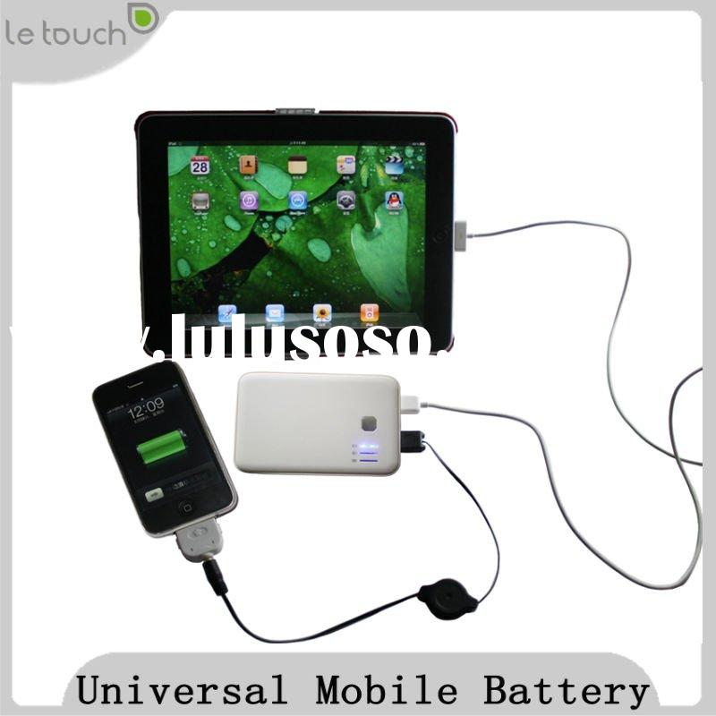 Mini 5000mAh External Battery for Apple iPad/iPhone/Samsung Galaxy S/Tab/USB (Black)