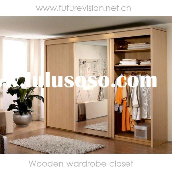 Modern wooden wardrobe designs for bedroom home design - Bedroom cabinets with sliding doors ...