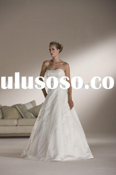 Modest wholesale cheap simple dream angel fashion captivating strapless design wedding dress/bridal