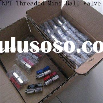 NPT Threaded Stainless steel Mini Ball Valve
