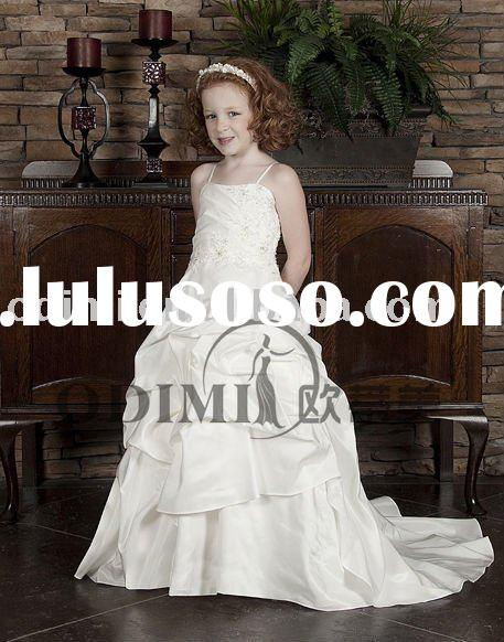 New Design Ball Gown Ruffle Flower Girl Dress