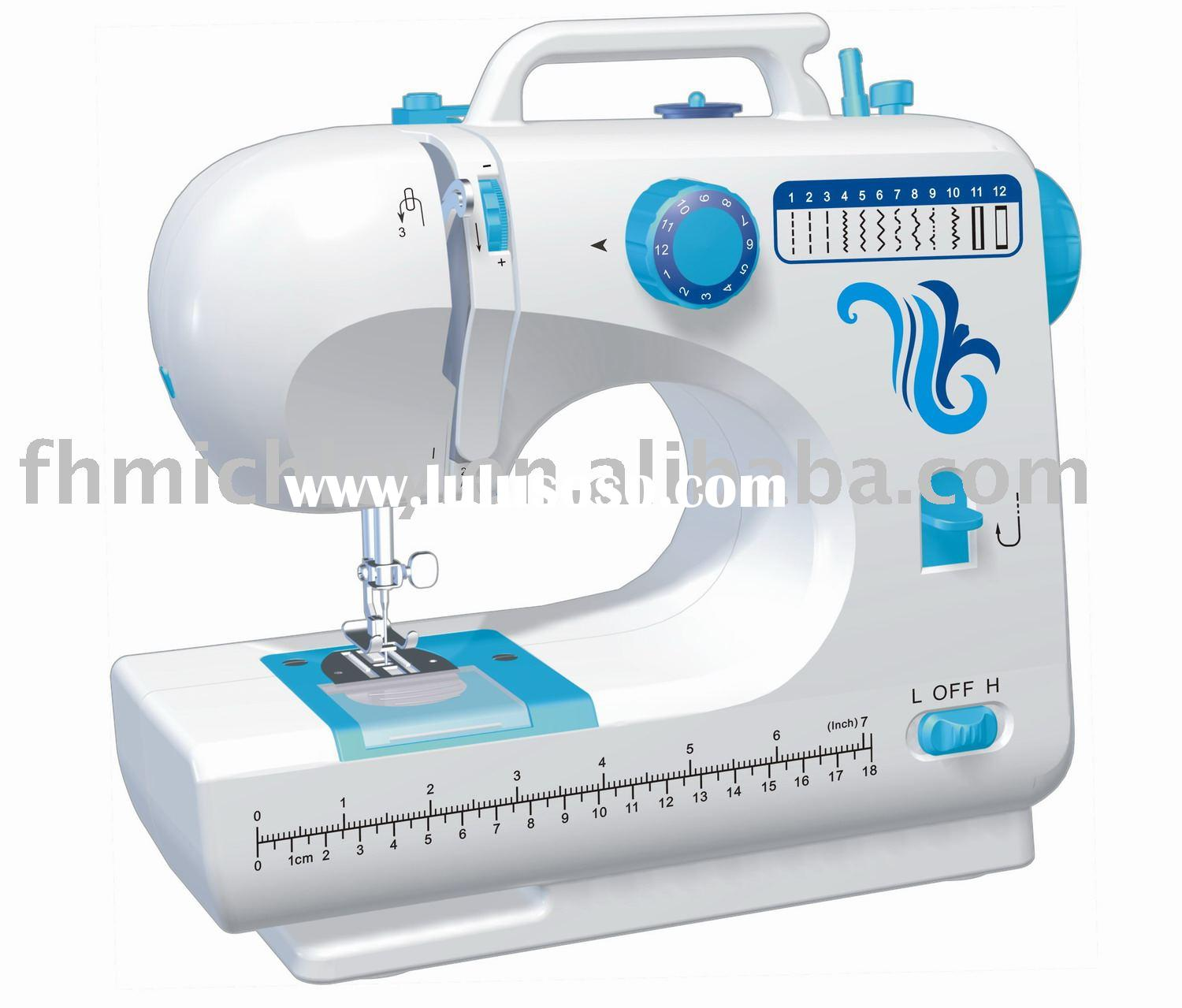 New!! FHSM-506 mini 12 stitches electric sewing machine with CE,ROHS approval,,compact &steady h