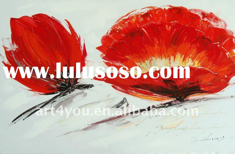 New arrival flower canvas oil painting for home decoration