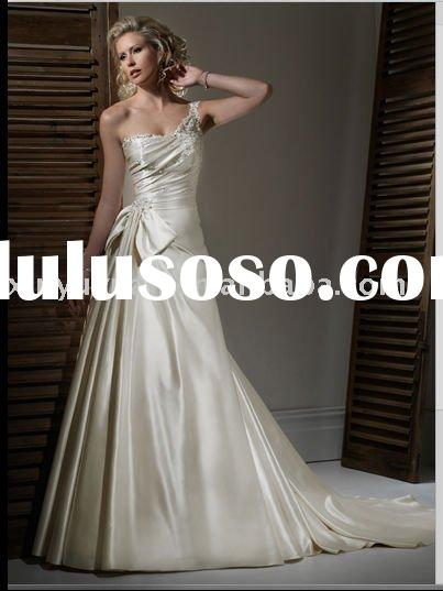 New design Maggie 2011 wedding dress wholesale MA-759 high one -shoulder high quality