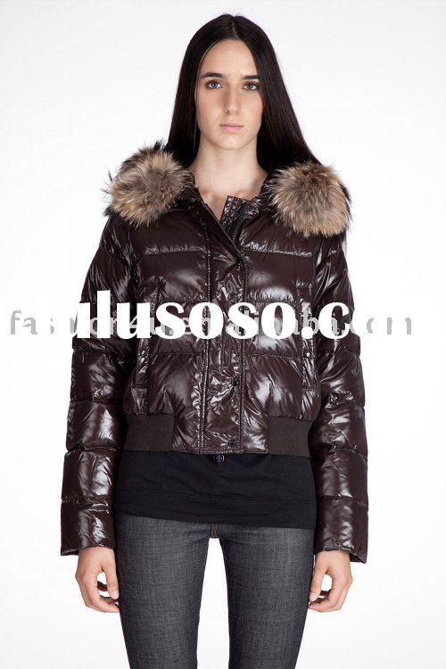 Newest Brand Name Fashion Womens Down Jackets Coats Coffee Ladies Winter Clothes